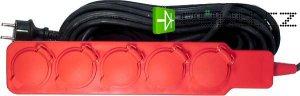 Prodlužovací přívod 10m-5x16A,3x1,5mm, guma