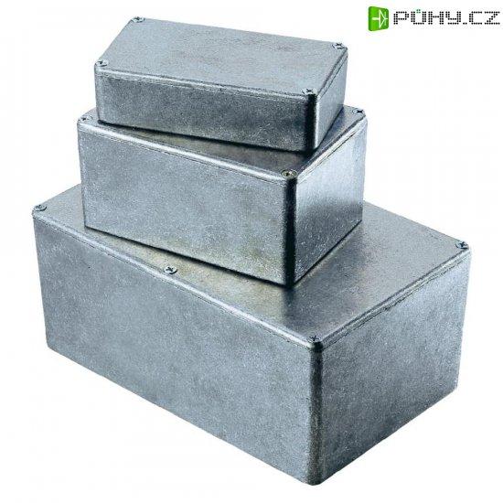 Tlakem lité hliníkové pouzdro Hammond Electronics, (d x š x v) 188 x 120 x 82 mm, hliníková (1590E) - Kliknutím na obrázek zavřete