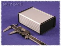 Univerzální pouzdro hliník Hammond Electronics 1457J1201EBK, 120 x 84 x 28.5 , černá