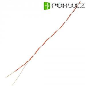 Kabel CCA SH1998C491, červená/bílá, 10 m