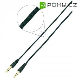 Připojovací kabel SpeaKa, jack zástr. 3.5 mm/jack zástr. 3.5 mm, černý, 3 m