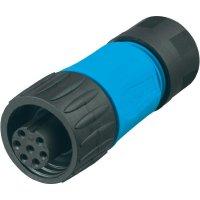 Kabelová zásuvka 3+PE Amphenol C016 20D003 110 10, 400 V, 16 A, černá/modrá