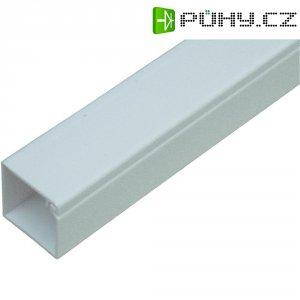 Malá kabelová lišta OBO Bettermann 6150187, 17 x 17 mm, 2 m, čistě bílá