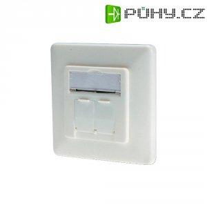 Síťová zásuvka pod omítku 2x port, Digitus DN-9005-KL-N