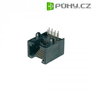 Konektor do DPS ASSMANN WSW A-20040/LP, 4P4C, zásuvka vestavná, černá