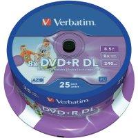 Verbatim DVD+R DL 8,5GB 8X 25 ks SP PRINT