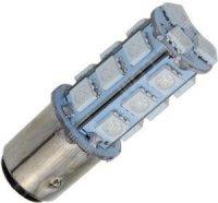 Žárovka LED BaY15D 12V/3W červená brzd/obrys., 18xSMD5050