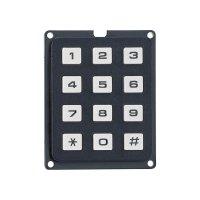 Tlačítkové pole Matrix, 3 x 4, 250 V, 1 A