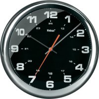 Kovové nástěnné hodiny, 27.5 cm, chrom