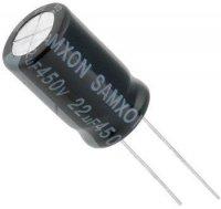 22u/450V 105° 13x21x5mm, elektrolyt.kondenzátor radiální