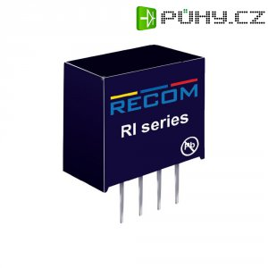 DC/DC měnič Recom RI-0512S, vstup 5 V/DC, výstup 12 V/DC, 168 mA, 2 W