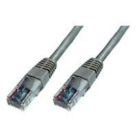 Patch kabel CAT 5e, U/UTP RJ 45, vidlice ⇔ vidlice, 10 m, šedý