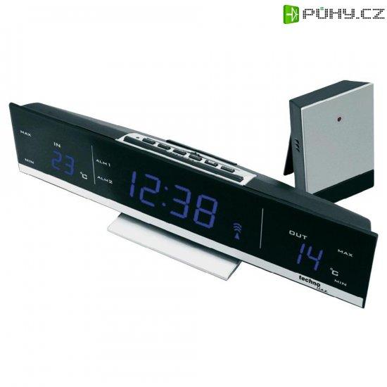 Bezdrátové hodiny s teploměrem Techno Line WS 6810, 285 x 70 x 55 mm, modrá - Kliknutím na obrázek zavřete