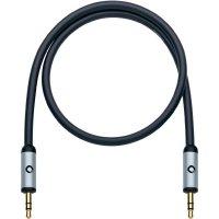 Připojovací kabel Oehlbach, jack zástr. 3.5 mm/jack zástr. 3.5 mm, černý, 1,5 m