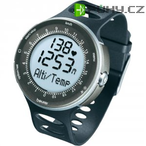 Sportovní hodinky s měřením pulzu Beurer PM 90, 676.10, černá/stříbrná