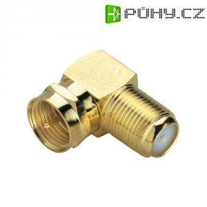 Adaptér BKL Electronic, 0403396, F konektor ⇔ F zásuvka, úhlový