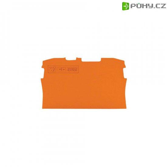 Koncová destička Wago 2002-1292, oranžová - Kliknutím na obrázek zavřete