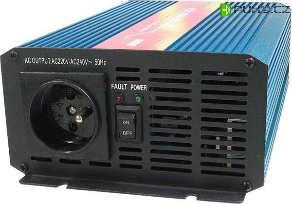 Měnič 12V/230V, 600W,čistá sinusovka,CARSPA - Kliknutím na obrázek zavřete