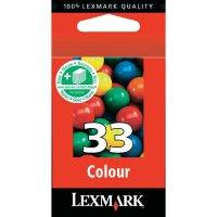 Cartridge Lexmark 33, 18CX033, žlutá/cyanová/magenta