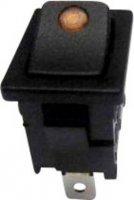Kolébkový spínač SCI R13-66B2-02 (250V/AC 150KR) s aretací 250 V/AC, 6 A, 1x vyp/zap, černá, žlutá, 1 ks