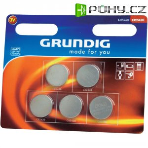 Knoflíková baterie Grundig CR2430, lithiová, 5 ks