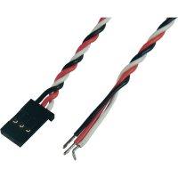 Kabel s konektorem Futaba, Modelcraft, 0,08 mm², 300 mm