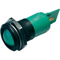 LED signálka CML 195A1251MUC, IP67, 22 mm, 12 V, zelená