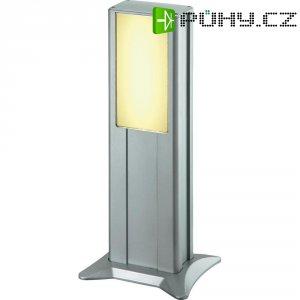 Venkovní sloupové svítidlo IVT Powerline, 45 cm, stříbrná
