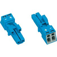 Síťová zásuvka Wago Winsta Mini, 250 V, 16 A, 2pólová, modrá, 890-1102
