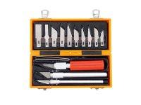 Nože na vyřezávání, sada 14ks, v krabičce z ABS pl., EXTOL CRAFT 91350