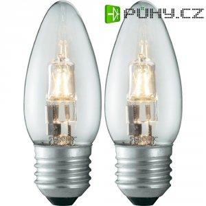 Halogenová žárovka Sygonix, E27, 40 W, 93 mm, stmívatelná, teplá bílá, 2 ks