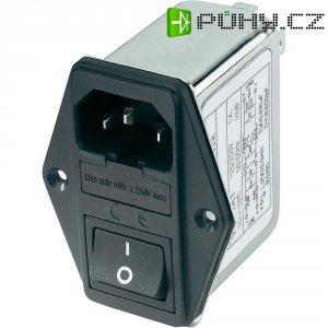 Síťový filtr Yunpen YQ06A1, 2 x 0,8 mH, 125/250 V/AC, (50/60 Hz), 6 A