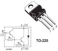 BDW93C N darl. 100V/12A 80W TO220