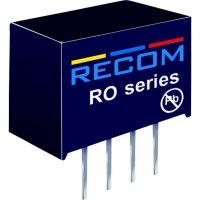 DC/DC měnič Recom RO-0515S (10000592), vstup 5 V/DC, výstup 15 V/DC, 66 mA, 1 W