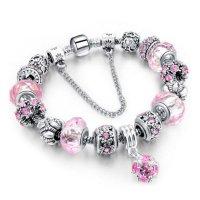 Šperk náramek Eternal - Stříbrná/Růžová