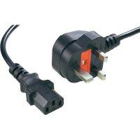 Síťový kabel Goobay 51323, zástrčka (Anglie)  IEC zásuvka, 1,8 m, černá