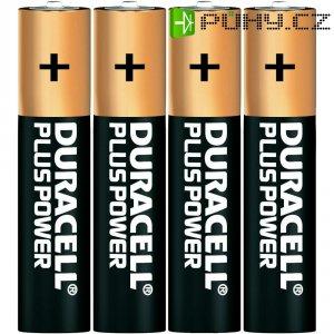 Alkalická baterie Duracell Plus, typ AAA, sada 4 ks