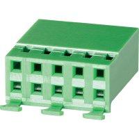 Pouzdro se zámečkem TE Connectivity 925370-2, zásuvka rovná, 2,54 mm, zelené