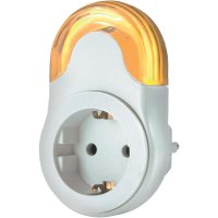 Noční LED svítidlo do zásuvky, 0,5 W, šedá/bílá