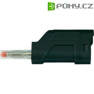 Lamelový konektor Ø 4 mm SCI Sicherheitsstecker; (28430c660), zástrčka rovná, černá