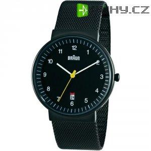 Ručičkové náramkové hodinky Braun Quartz, černá