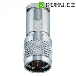 Konektor Twinax BKL Electronic 0416001, 105 Ω, PTFE, zástrčka rovná, poniklovaná mosaz