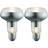 Halogenová žárovka Sygonix, E27, 42 W, 116 mm, stmívatelná, teplá bílá, 2 ks