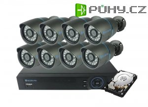 Kamera set SECURIA PRO AHD8CHV1/1TB 720P 8CH DVR + 8x IR CAM + 1TB HDD analog
