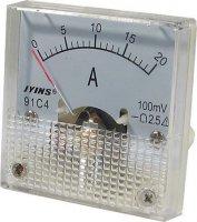 91C4 panelový MP 20A=(100mV) 45x45mm,bez bočníku