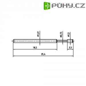 Zkušební hrot PTR 1015-C-0.7N-AU-1.3C