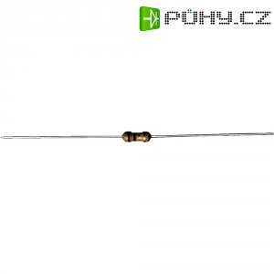 Uhlíkový rezistor, 120 Ω, 0207, axiální vývody, 0,25 W, 5 %