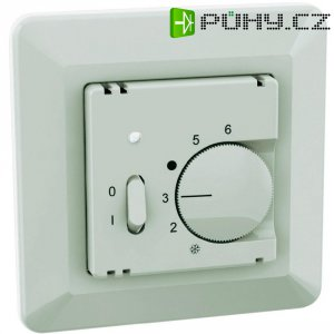 Pokojový termostat spínací/rozepínací Ehmann 6060c0100, 5 až 30 °C, bílá