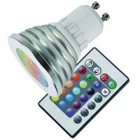 Žárovka LED GU10/230V 3W RGB color + dálk.ovl.