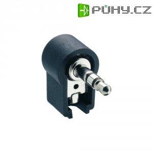 Jack konektor 3,5 mm Lumberg WKLS 40, zástrčka úhlová, 3pól./stereo, černá